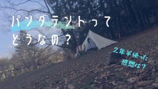 【テンマクデザイン】徒歩キャンプでの愛用テント「PANDA(パンダ)テント」を2年半使った感想【レビュー】